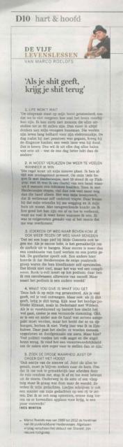 Marco in gesprek met Belgische krant De Standaard
