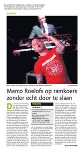 Marco Roelofs op ramkoers zonder echt door te slaan